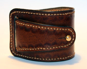 Leather cuff bracelet, brown handmade cuff, great bracelet, mens bracelet, womens bracelet, great gift, leather accessories