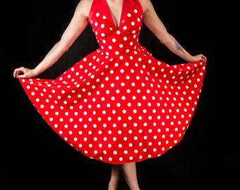 Pin up , 50's  swing dress