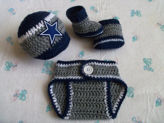 New Handmade Crochet Baby Dallas Cowboys Hat by
