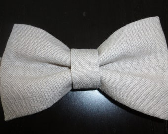 Beige Linen Baby Bowtie/Kids Bowtie/Baby boy bow tie