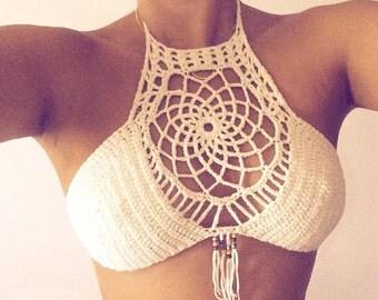 Dreamcatcher Halter Crochet top