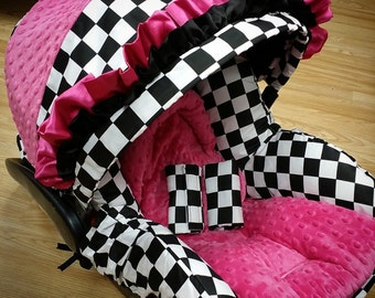 Checkered Flag, Infant Replacement Car Seat Cover