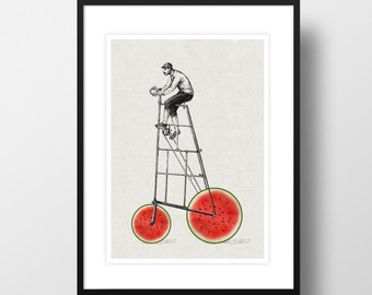 "Artprint ""Melon bike"""