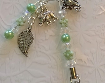 Elephant keyring, Elephant kilt pin brooch, or Elephant bookmark, Giraffe kilt pin gift handmade gift