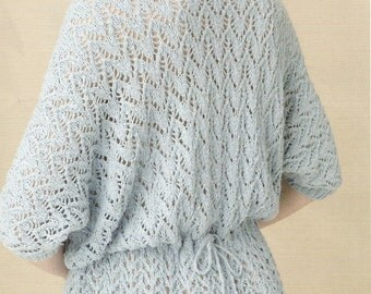 Knitting Pattern for lace sweater - Sea Holly