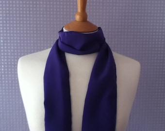 Purple scarf - skinny lightweight chiffon scarf