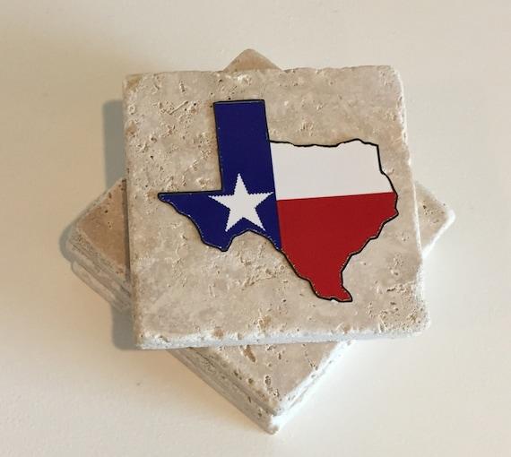 Items Similar To Texas Coasters Drink Coasters Stone Coasters Set Of Four On Etsy