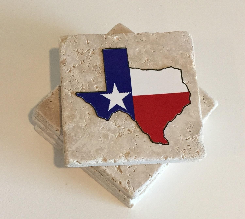 Texas Coasters Drink Coasters Stone Coasters Set By