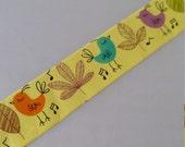 Bird Washi Tape - 2 meters - 15mm Width Yellow Washi Tape Teal Deco Tape