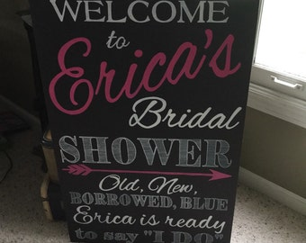 Custom Wedding Shower sign