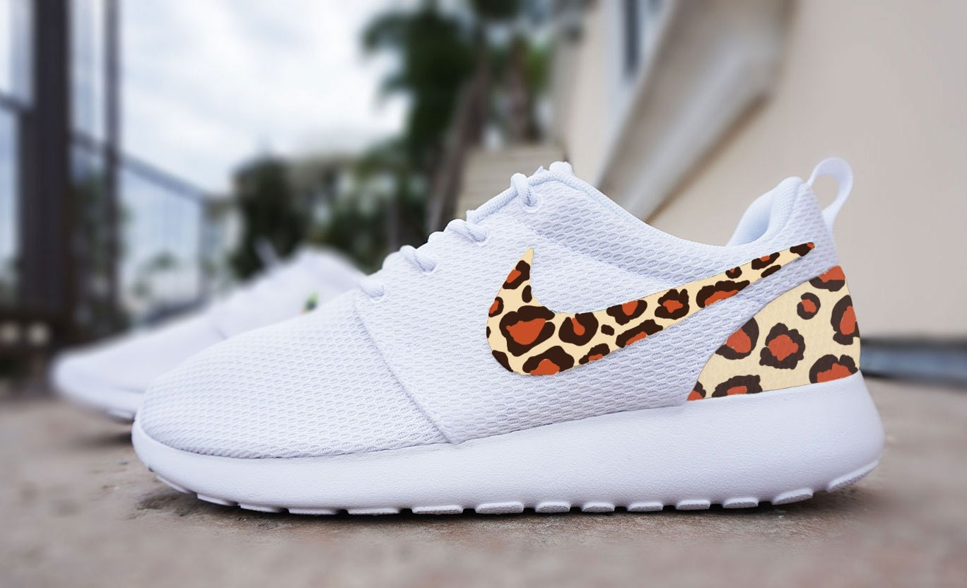 Womens Custom Nike Roshe Run sneakers cheetah by CustomSneakz