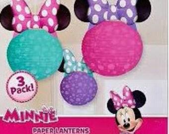 Minnie mouse paper lantern