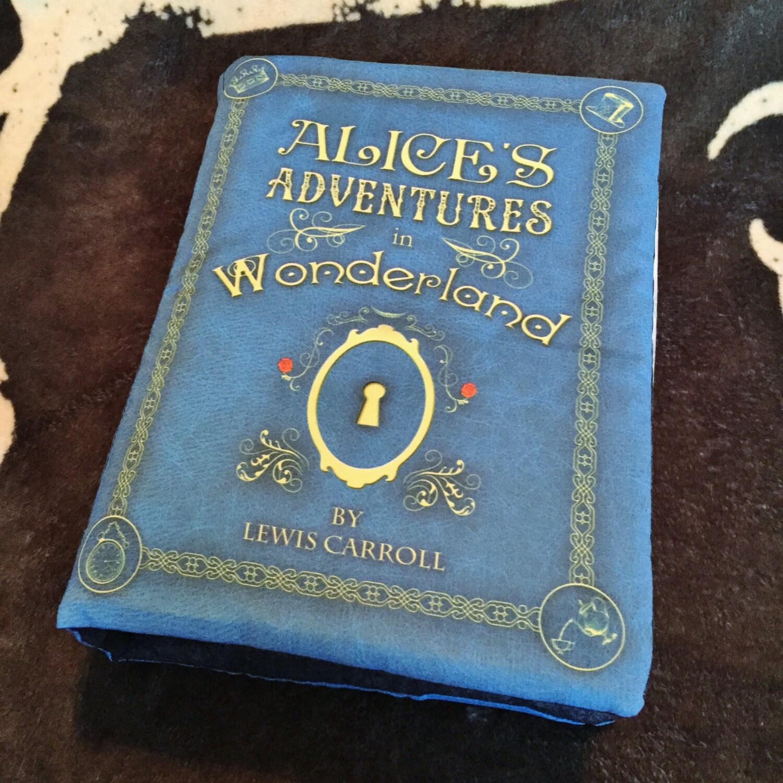 Alice in Wonderland Book Pillow by BrassingtonHollow on Etsy