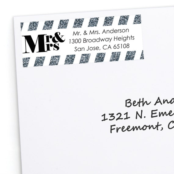 mr and mrs silver address labels personalized return address