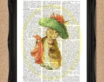 Benjamin Bunny Print Beatrix Potter Art for Nursery or Nostalgia A121