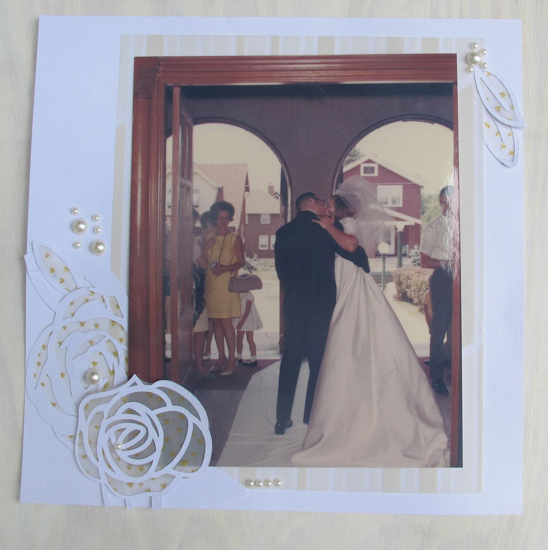 Premade Scrapbook Page Wedding Scrapbook By HotWheelsAndGlueGuns