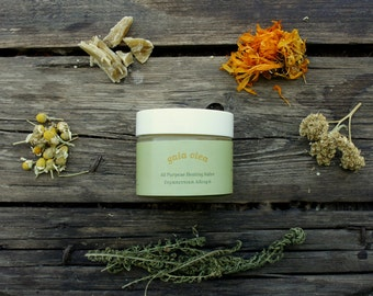 All Purpose Healing Salve*Natural First Aid Remedy* Organic Olive oil and Therapeutic Herbal Extracts* 30ml