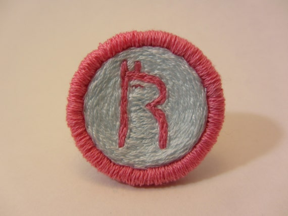 Re-Tail 'R' Animal Crossing Hand Embroidered Merit Badge-Style Patch