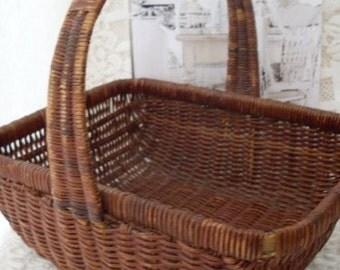 Shabby Chic Lovely French Farmhouse Basket  Bostonbackbay Antiques  We Ship Internationally