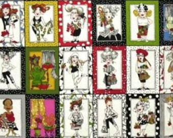 Loralie Designs Sew Fabulous Fabric Panel Sewing Ladies Out Of Print High Quality Cotton Quilt Fabric