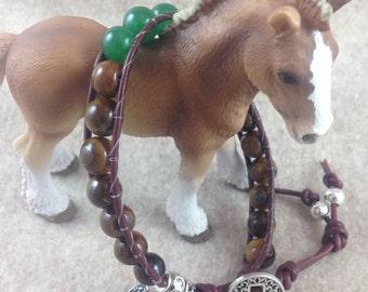 Leather Wrap Bracelet  Southwestern Leather Wrap Bracelet