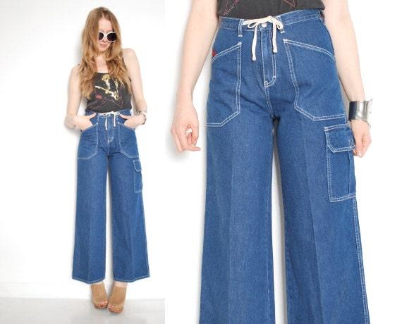 tommy hilfiger vintage 90s jeans wide leg jeans high