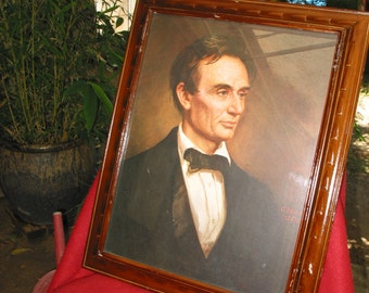 Rare Vintage 1860 Lincoln Framed Print