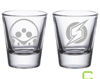 Metroid Prime - Metroid Etched Shot Glass