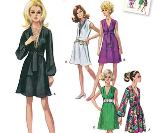 Simplicity Pattern 1059 Misses' Dress and Sash or Scarf