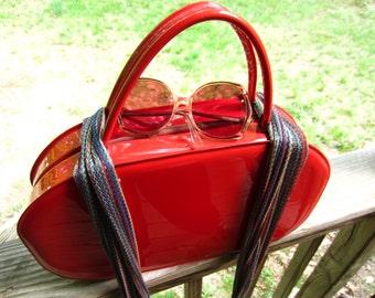 Vintage 1960s Miami Red Tolin Purse // 60s designer // psychedelic style // NOS Mod