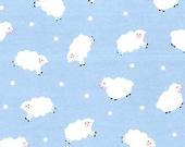 Blue Little Lambs FLANNEL - 1 yard - Michael Miller