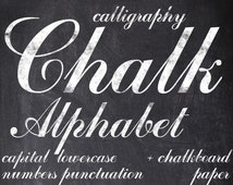 Digital Chalkboards Alphabet for scrapbooking, chalk clipart, Papercrafts, Wedding Decor, Instant Download, printable lettering (1)