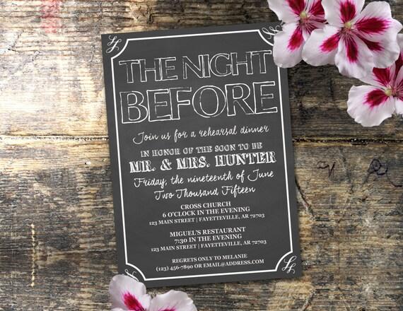 Pre Wedding Dinner Invitation: The Night Before Rehearsal Dinner Invitation By