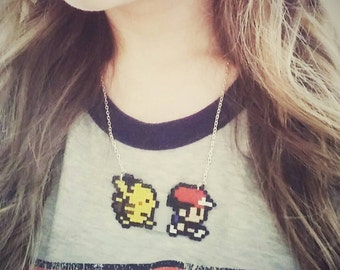 Pokemon hama bead necklace