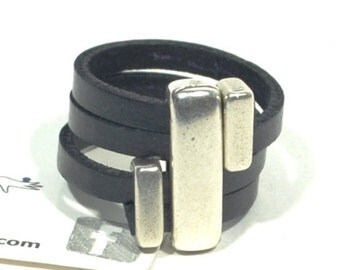 black leather ring for women, wrap leather ring, minimalist ring, gifts for mom, silver ring, women gifts, anniversary gift, colorful ring