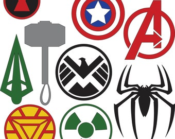 Marvel Superhero Logos (SVG & DXF files)