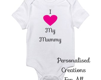 Mothers Day Baby body suit