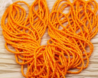 """10/0 2Cut Opaque Light Orange Czech seed beads - 1 hank - 12 / 20"""""""