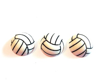 Volleyball Embellishments for Decoden Flat Back Set of 3