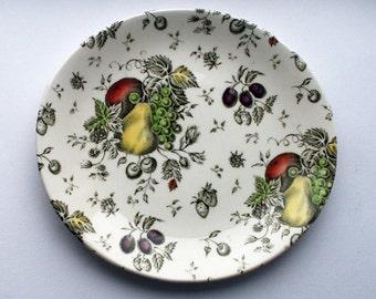 Johnson Bros. plate, Autumn's Delight. Fruit pattern china plate. English china