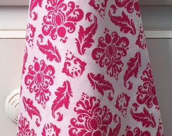 Stylish laundry bags for traveling. Convenient and fun. White/ hot pink cotton. You'll never look at your laundry the same way again!