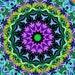 Gorgeous Mandala Tapestry wallhanging Light blue, yellow, pink, dark blue, green, purple, orange one of a kind design