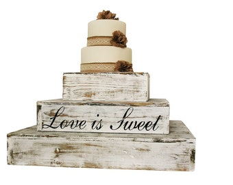 Rustic Wedding Country Barn Farmhouse Wedding Cake Cupcake Stand 3 Tier Rustic Wooden Country Cake Cupcake Stand