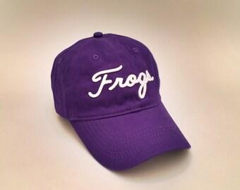 Purple TCU Horned Frogs Golf Hat