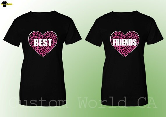 couple tshirt best friends tees bff shirts by customworldca