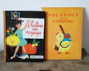 French vintage children's books, French books, children's books, travel books