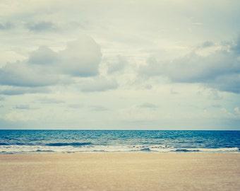 Retro Beach Photo, Beach Print, Seascape, Seaside Photo, Nautical Photo, Fine Art Photography, Waves Ocean Photography, Beach Photography