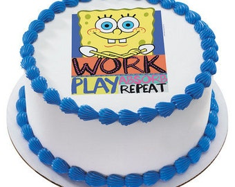 Spongebob Squarepants Edible Cake or Cupcake Toppers - Choose Your Size