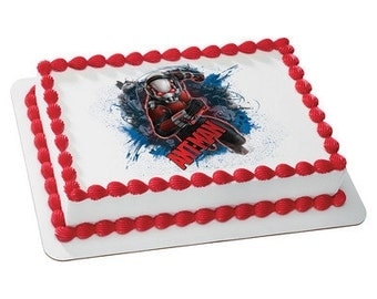 Ant-Man Superhero Edible Cake or Cupcake Toppers - Choose Your Size