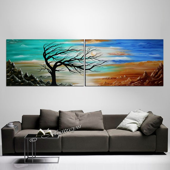 72 seascape acrylic painting wall decor wall art by. Black Bedroom Furniture Sets. Home Design Ideas